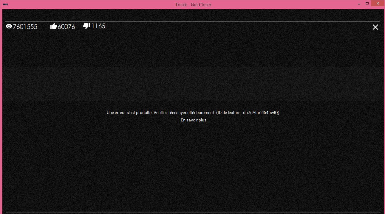 Error reading of youtube video via WebView